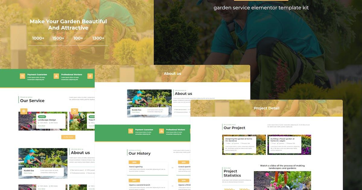 Download Kebun - Garden Service Elementor Template Kit by dekdekstudio