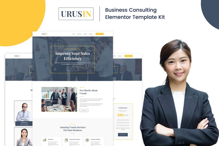 Urusin - Business Consulting Elementor Template Kit