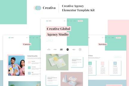 Creativa - Template Kit Elementor de la Agencia Creativa