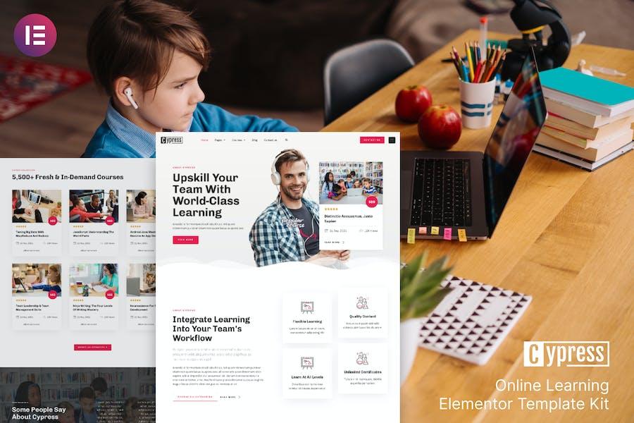 Cypress - Kit ElementorPlantilla de Aprendizaje y Cursos en Línea