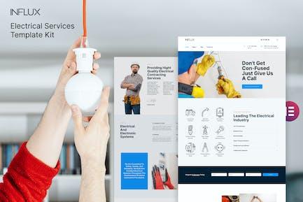Influx - Template Kit de servicios eléctricos y electricistas