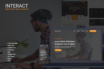 Interact - Digital Agency Elementor Template Kit