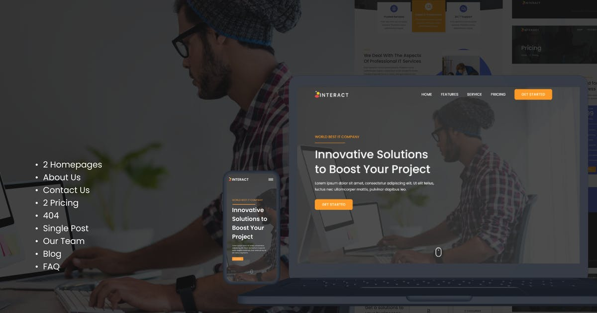 Download Interact - Digital Agency Elementor Template Kit by AZetype86
