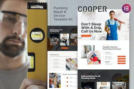 Cooper – Plumbing Repair Service & Maintenace Template Kit