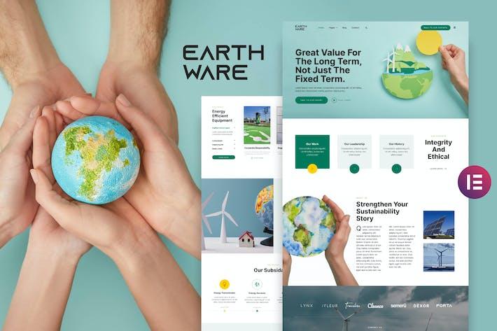 Earthware — Eco Green Renewable Energy Elementor Template Kit