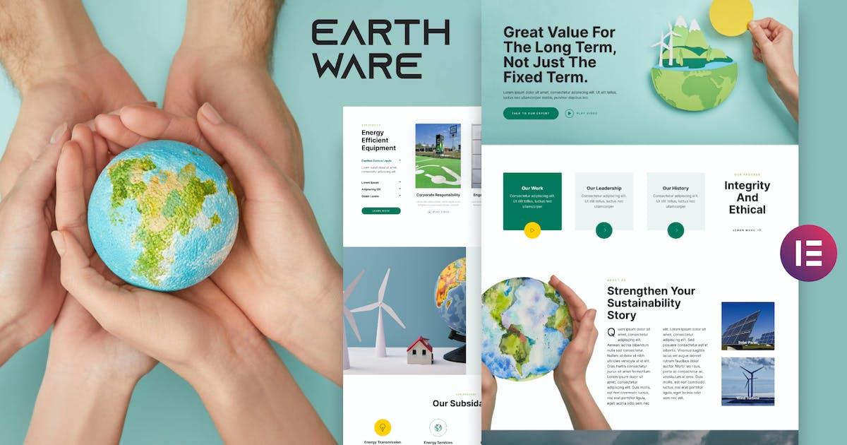 Download Earthware — Eco Green Renewable Energy Elementor Template Kit by deTheme