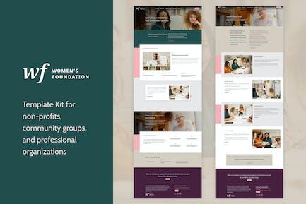 Women's Foundation | Non-Profit WordPress Elementor Template Kit