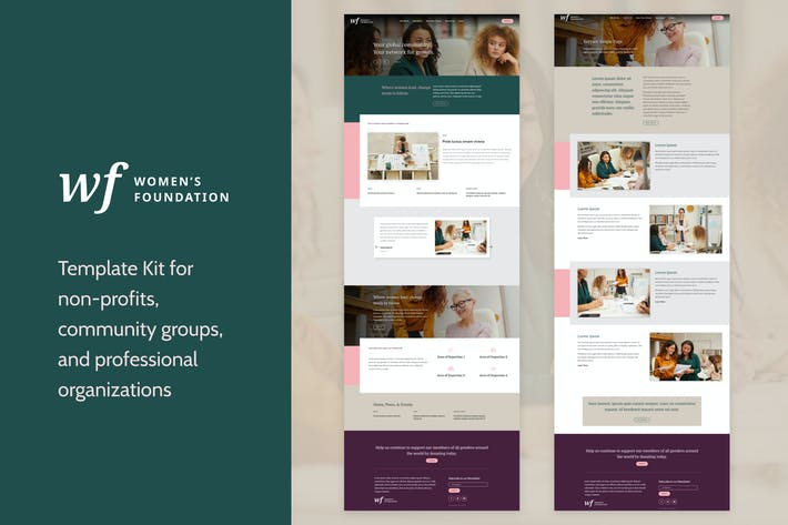 Frauenstiftung | Gemeinnütziges WordPress Elementor Template Kit