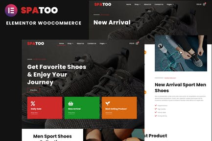 Spatoo - Modern Shoes eCommerce Elementor Template Kit
