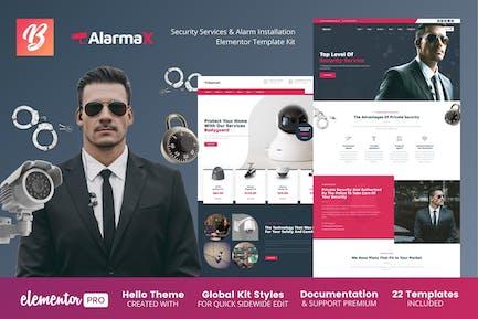 Alarmax - Security Services & Alarm Installation Elementor Template Kit