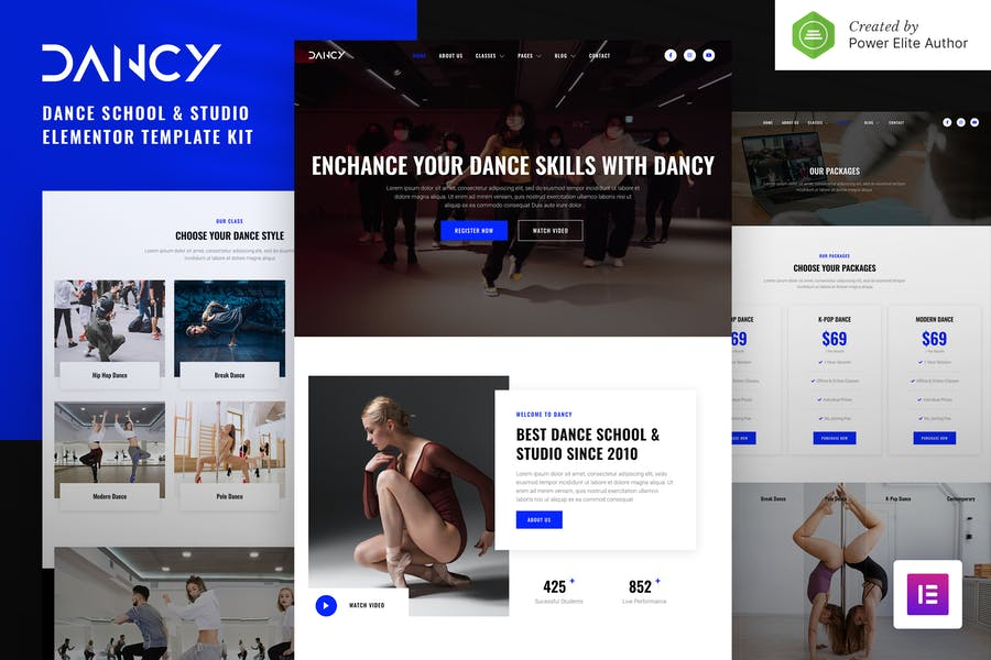 Dancy — Tanzschule & Studio Elementor Template Kit