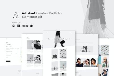 Artistant - Creative Photography Portfolio Elementor Template Kit
