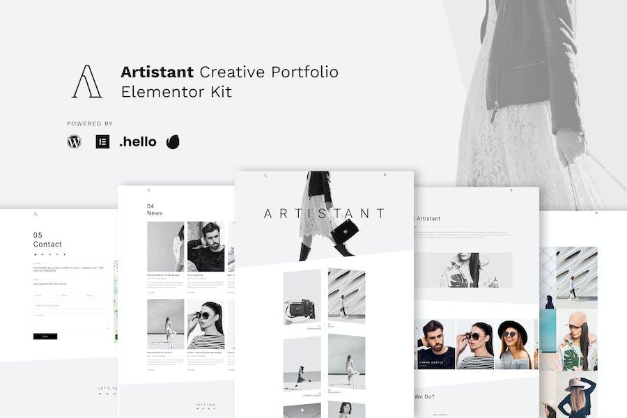 Artistant - Template Kit Elementor de la Porfolio de fotografía creativa