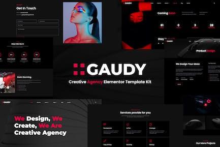 Gaudy – Dark Digital Agency Elementor Template Kit