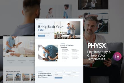 Physx — Physiotherapy & Chiropractor Elementor Template Kit