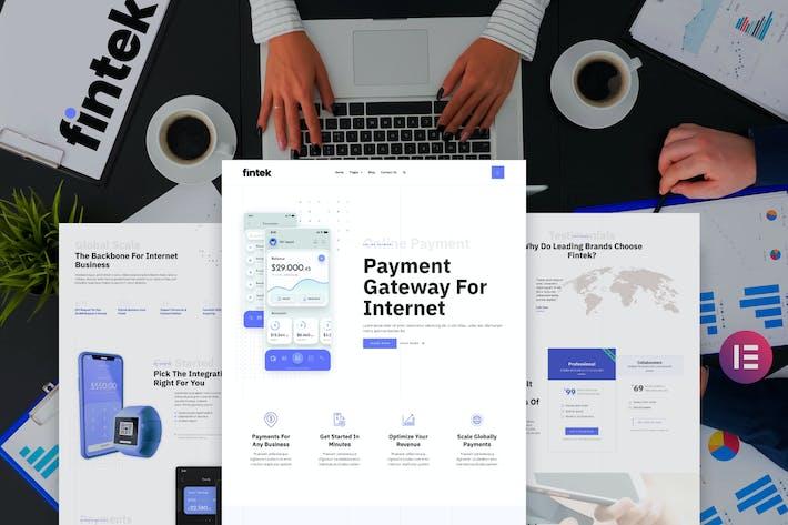 Fintek - Financial Technology Elementor Template Kit