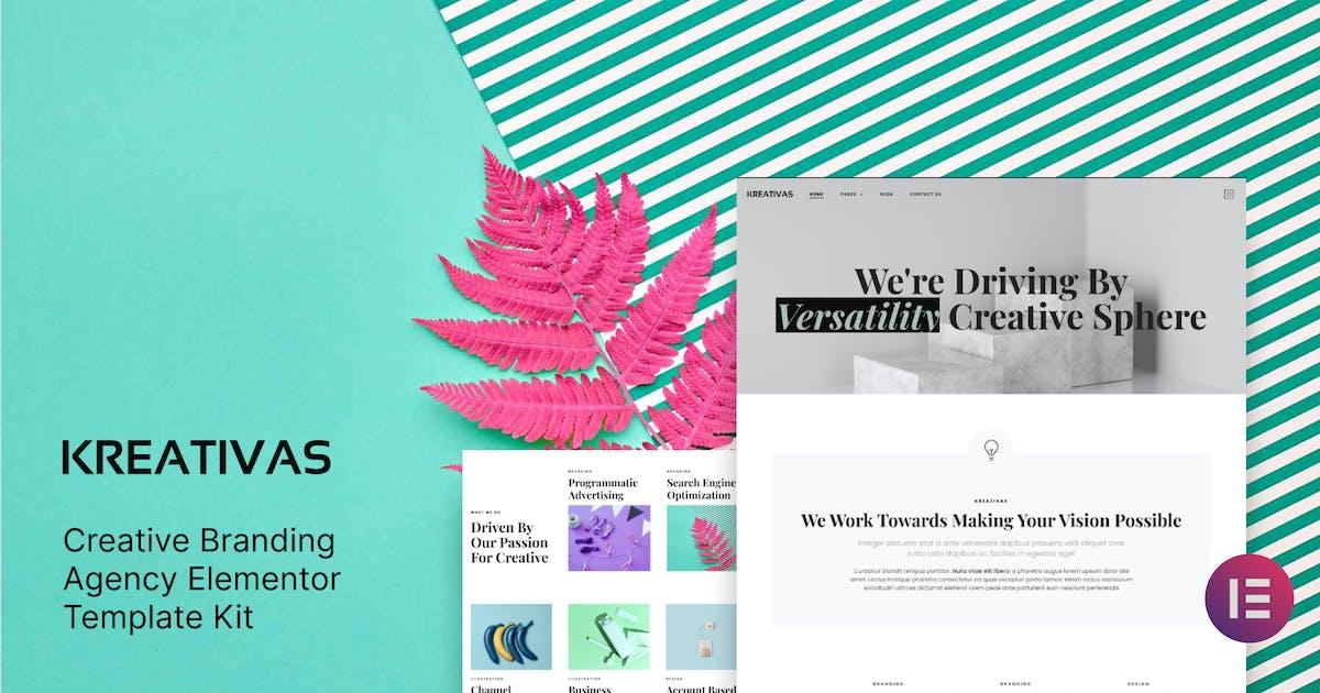 Download Kreativas - Creative Branding Agency Elementor Template Kit by deTheme