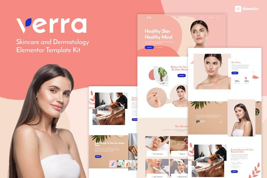 Verra - Skincare & Dermatology Elementor Template Kit