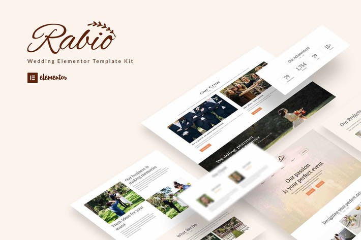 Rabio - Wedding Event Organizer Elementor Template Kit