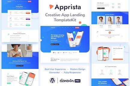 Apprista - Creative App Landing Elementor Template Kit