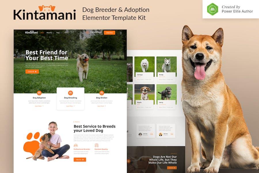 Kintamani — Dog Züchter & Adoption Elementor Template Kit