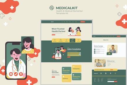 Medicalkit - Elementor Template Kit für Gesundheit und klinische Versorgung