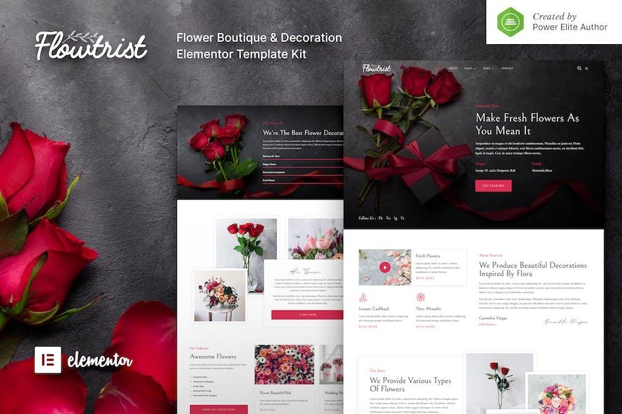 Flowtrist — Blumenboutique & Florist Elementor Template Kit