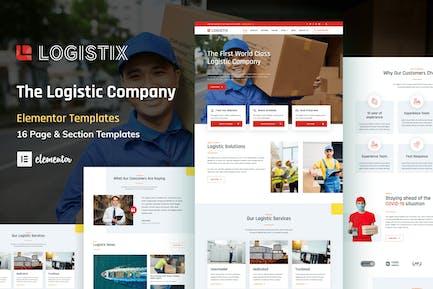 Logistix - Transportation Courier & Logistic Company Elementor Template Kit