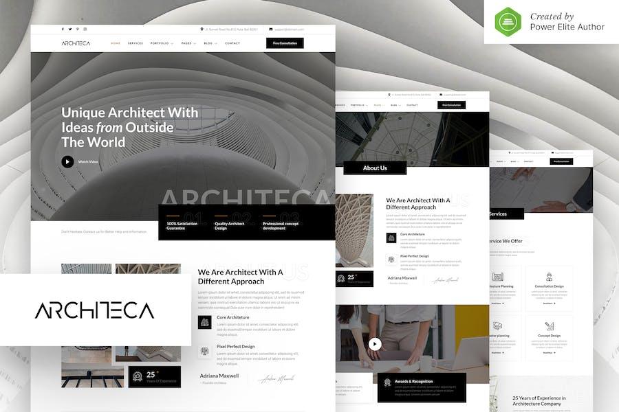 Architeca — Architekturbüro & Innenarchitektur Elementor Template Kit