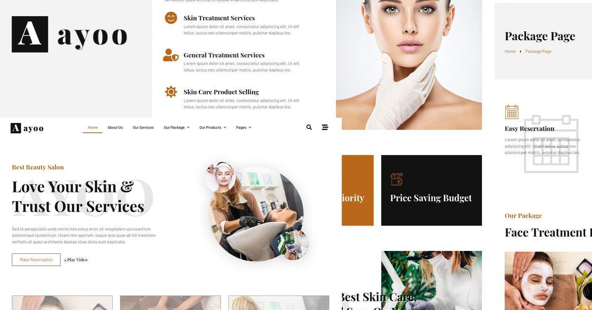 Download Ayoo - Beauty Salon Services Elementor Template Kits by wirastudio