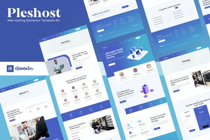 Pleshost - Cloud Web Hosting Elementor Template Kit