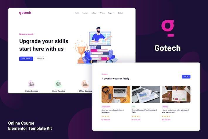 Gotech - Online Course Elementor Template Kit