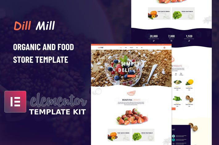 Dillmill - Organic Food Store Elementor Template Kit
