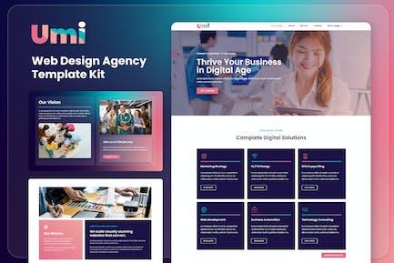 Umi - Web Design Agency Elementor Template Kit