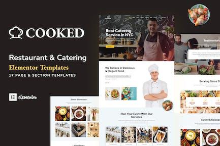 Cooked - Catering & Restaurant Website Elementor Template Kit