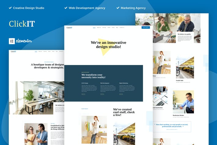 ClickIT - Creative Digital Agency Elementor Template Kit