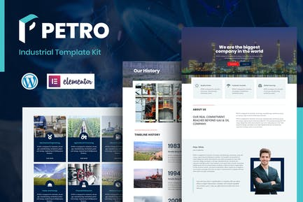 Petro - Industrial Elementor Template Kit