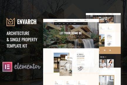 EnvArch – Architecture & Single Property Elementor Template Kit