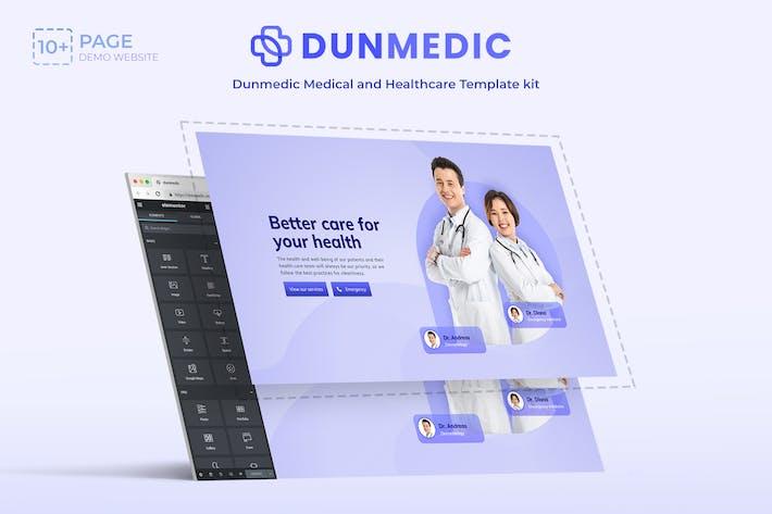 Dunmedic - Medical & Healthcare Elementor Template Kit