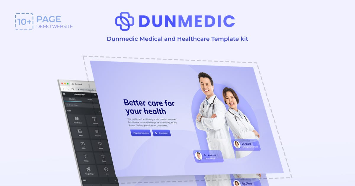 Download Dunmedic - Medical & Healthcare Elementor Template Kit by onecontributor
