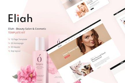 Eliah - Beauty Salon & Cosmetic Elementor Template Kit