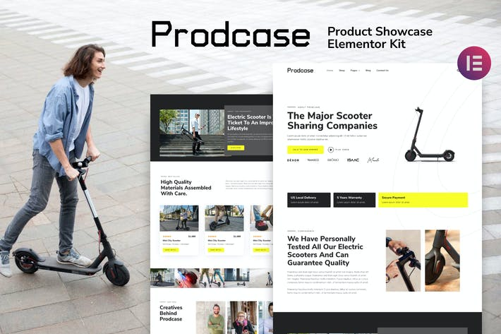 Prodcase - Product Launch & Showcase Template Kit