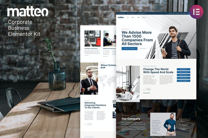 Matteo — Unternehmens- Business Elementor Template Kit