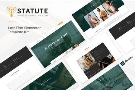 Statute - Law Firm &  Attorney Elementor Template Kit