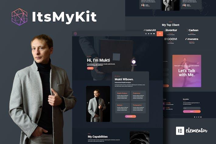ItsMyKit - Dark Creative Portfolio Elementor Template Kit