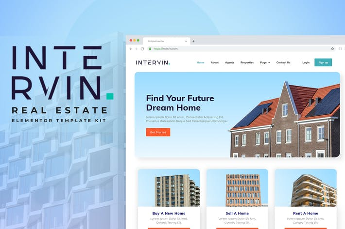 Intervin - Real Estate Elementor Template Kit
