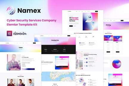 Namex - Cyber Security Services Company Elementor Template Kit