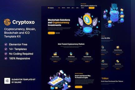 Cryptoxo – Cryptocurrency Blockchain & Bitcoin Elementor Template Kit