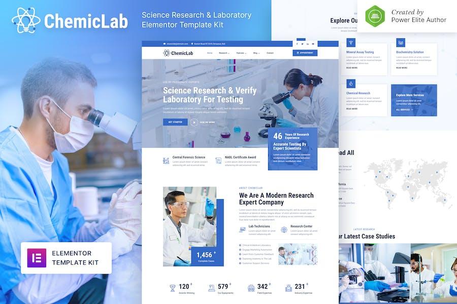 ChemicLab — Template Kit de recherche scientifique et de laboratoire