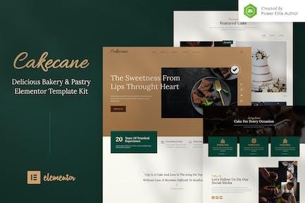 Cakecane — Kuchen & Gebäck Elementor Template Kit